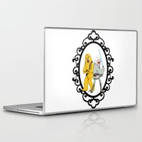 finn and jake Laptop & iPad Skins featuring Jedi Finn & Wookie Jake by createASAP