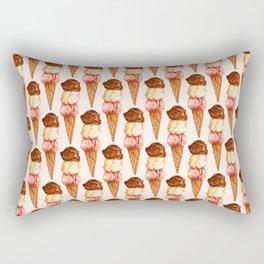 Ice Cream Pattern - Neapolitan Rectangular Pillow