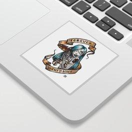 Forever 29 Zombie Girl Sticker