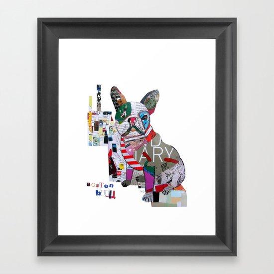 boston bulldog (dogs Framed Art Print