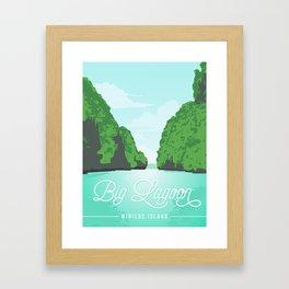 Big Lagoon | Miniloc Island Framed Art Print
