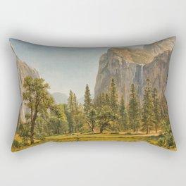 Bridal Veil Falls, Yosemite Valley, California Rectangular Pillow