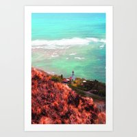 lighthouse Art Prints featuring Lighthouse by Kakel-photography