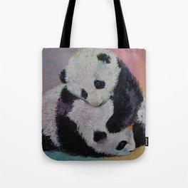 Baby Panda Rumble Tote Bag