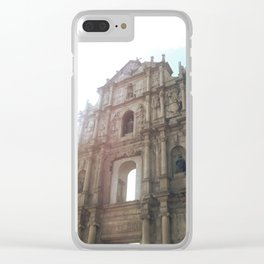 Ruins of St. Paul's Clear iPhone Case
