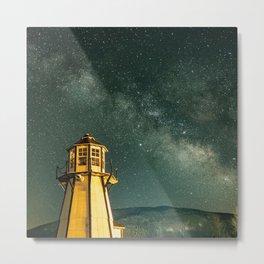 Mountain Light House Metal Print