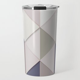 Retro Geometric Triangular Shape Artistic Abstract Pattern Travel Mug