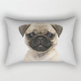 Pug Puppy - Colorful Rectangular Pillow