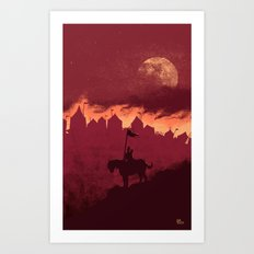 A Rather Dramatic Point in a Story Art Print