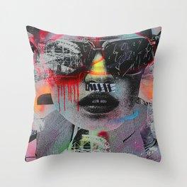 Graffiti Wall NYC Throw Pillow