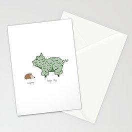 Hedgehog vs. Hedge Hog Stationery Cards