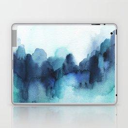 Wonderful blues Abstract watercolor Laptop & iPad Skin