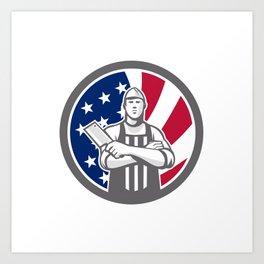 American Butcher Front USA Flag Icon Art Print