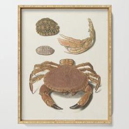 Vintage Crab Illustration Serving Tray