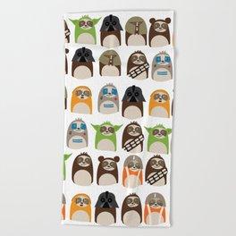 Science Fiction Sloths Beach Towel