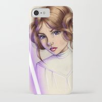 princess leia iPhone & iPod Cases featuring Princess Leia by kristen keller reeves