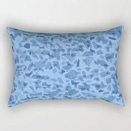 Water Blue Terrazzo Tile Rectangular Pillow