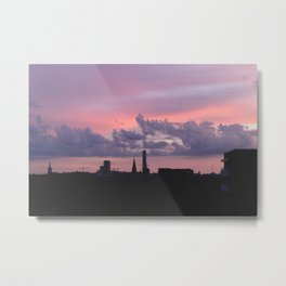 Painted Skies of Malmö Metal Print
