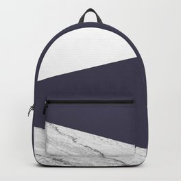 Marble Eclipse blue Geometry Backpack