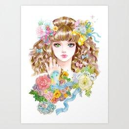 Lara-flower girl Art Print