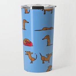 Sausage the Dog: Blue Print Travel Mug