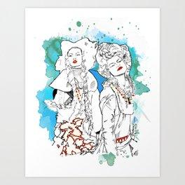 Gypsies- Jade Art Print