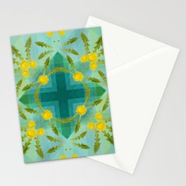 Dandelions in the sky Stationery Cards