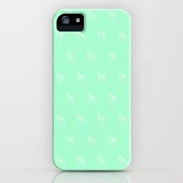 F ((seafoam green)) iPhone Case