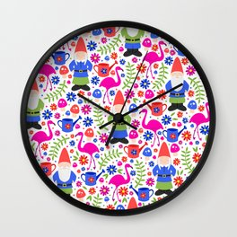 Gnome Garden Wall Clock