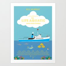 The Life Aquatic with Steve Zissou Movie Poster Art Print