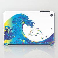 hokusai iPad Cases featuring Hokusai Rainbow & dolphin_G by FACTORIE