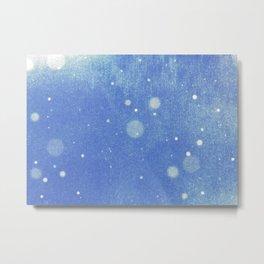 Vintage snow and blue sky Metal Print