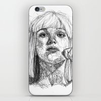 sia iPhone & iPod Skins featuring Sia Scribbles (Pen Art) by Aeriz85