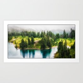 Alpine Lake, Eunice Lake, Mt. Rainier National Park Art Print