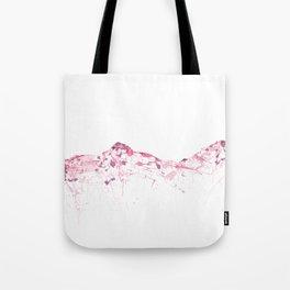 Eiger/Mönch/Jungfrau SWISS mountainsplash pink Tote Bag