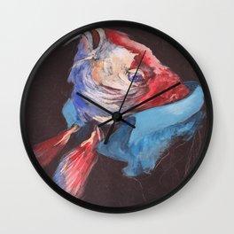 Fish Wearing Linen Wall Clock