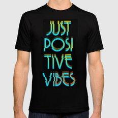 Just Positive Vibes Black MEDIUM Mens Fitted Tee