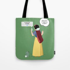 SnowWhite - A smile and a song Tote Bag