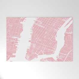 Pink City Map of New York, USA Welcome Mat