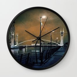 Salford by night Wall Clock