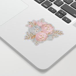 Night Rose Garden Gray Sticker