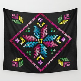 Neon Embroidery Wall Tapestry