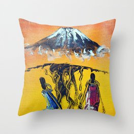 The Snows of Kilimanjaro Throw Pillow