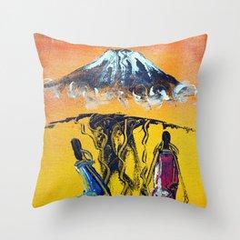 The Snows of Kilimanjaro Throw Pillow