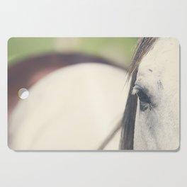 Grey Horse Cutting Board