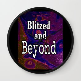 Blitzed And Beyond Party Sparkly Art Wall Clock