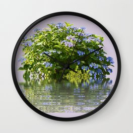 Hydrangea on Lavender Wall Clock
