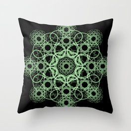 Celtic Disk Mandala Throw Pillow