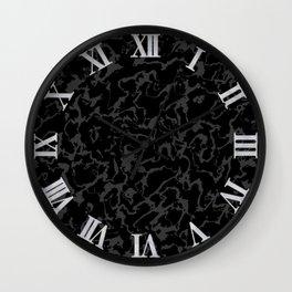 Wild Marble - Abstract dark Wall Clock