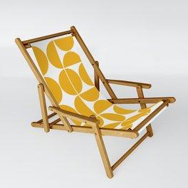 Mid Century Modern Geometric 04 Yellow Sling Chair